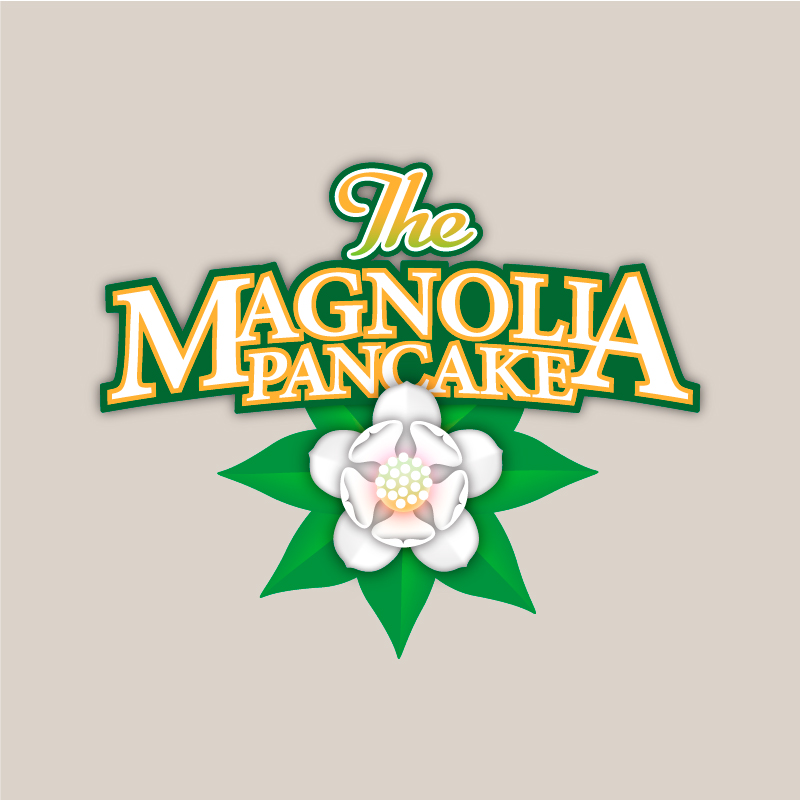 LOGO DESIGN/BRANDING  - The Magnolia Pancake - ©UnParalleled, LLC dba UP-Ideas / Roger Sawhill / Mark Braught - Atlanta, Georgia | Lawrenceville, Georgia | Commerce, Georgia