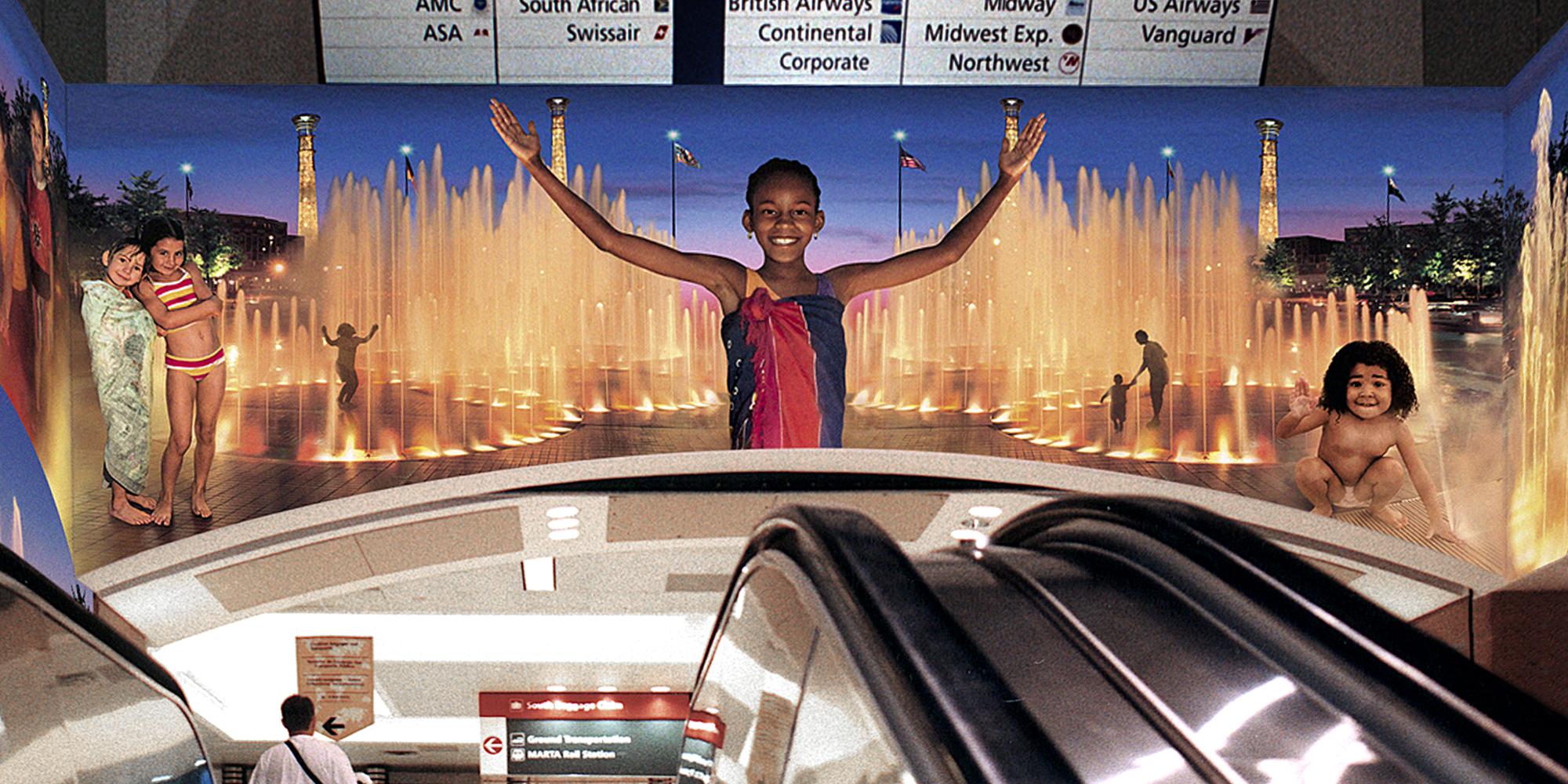 RETOUCHING/IMAGE EDITING - Atlanta International Airport Mural - ©UnParalleled, LLC dba UP-Ideas / Roger Sawhill / Mark Braught - Atlanta, Georgia | Lawrenceville, Georgia | Commerce, Georgia