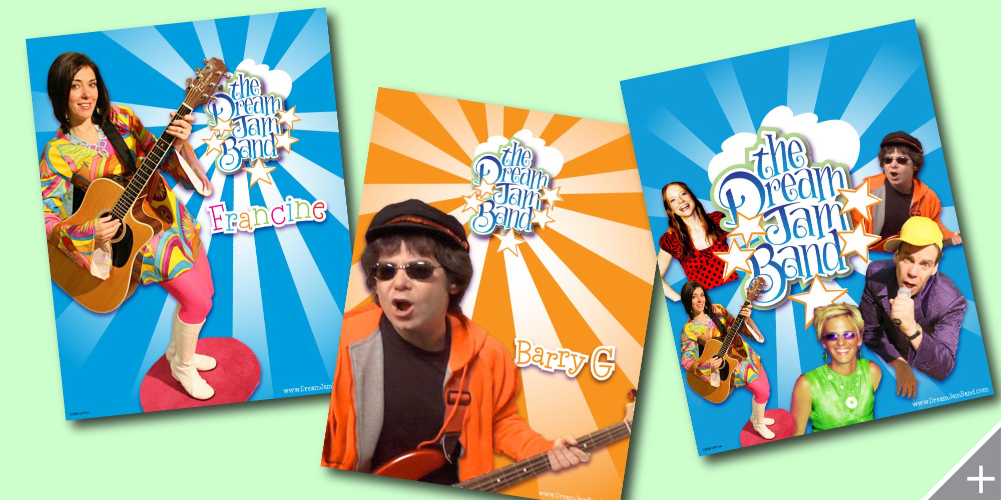 PRINT DESIGN/MERCHANDISE DESIGN - The Dream Jam Band   Posters - ©UnParalleled, LLC dba UP-Ideas / Roger Sawhill / Mark Braught - Atlanta, Georgia   Lawrenceville, Georgia   Commerce, Georgia