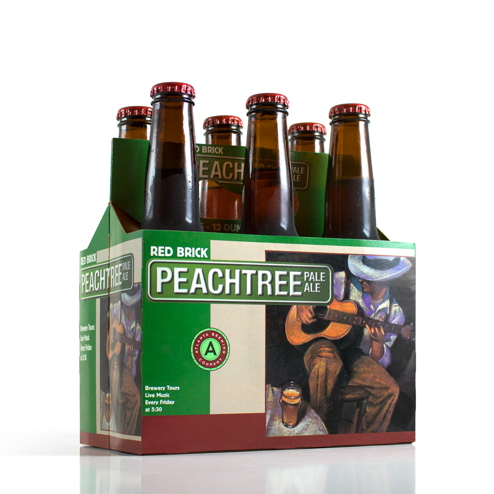 PACKAGE DESIGN - Peachtree Pale Ale - ©UnParalleled, LLC dba UP-Ideas / Roger Sawhill / Mark Braught - Atlanta, Georgia | Lawrenceville, Georgia | Commerce, Georgia