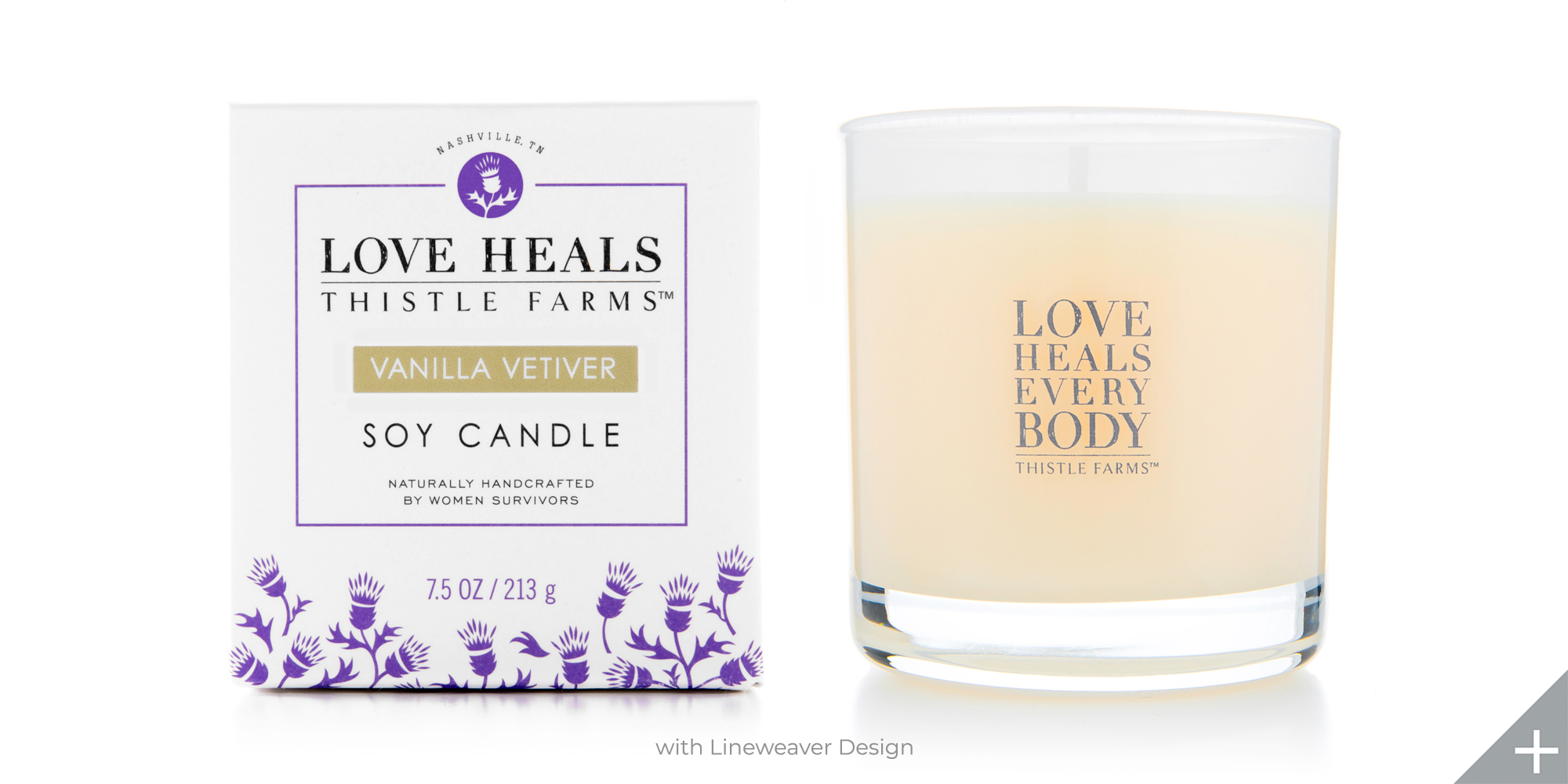 PACKAGE DESIGN - Thistle Farms | candle and box - ©UnParalleled, LLC dba UP-Ideas / Roger Sawhill / Mark Braught - Atlanta, Georgia | Lawrenceville, Georgia | Commerce, Georgia