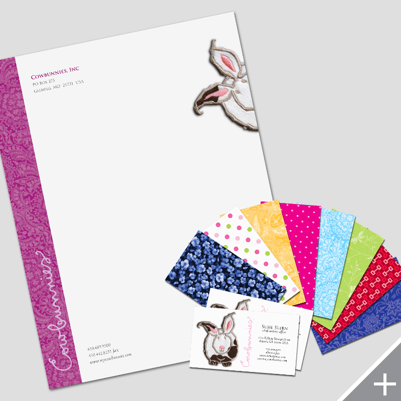PRINT DESIGN - Cowbunnies | letterhead and business cards - ©UnParalleled, LLC dba UP-Ideas / Roger Sawhill / Mark Braught - Atlanta, Georgia | Lawrenceville, Georgia | Commerce, Georgia