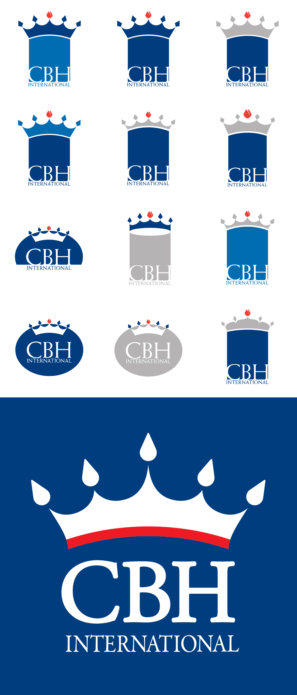 LOGO DESIGN/BRANDING  - CBH International | logo design process - ©UnParalleled, LLC dba UP-Ideas / Roger Sawhill / Mark Braught - Atlanta, Georgia | Lawrenceville, Georgia | Commerce, Georgia