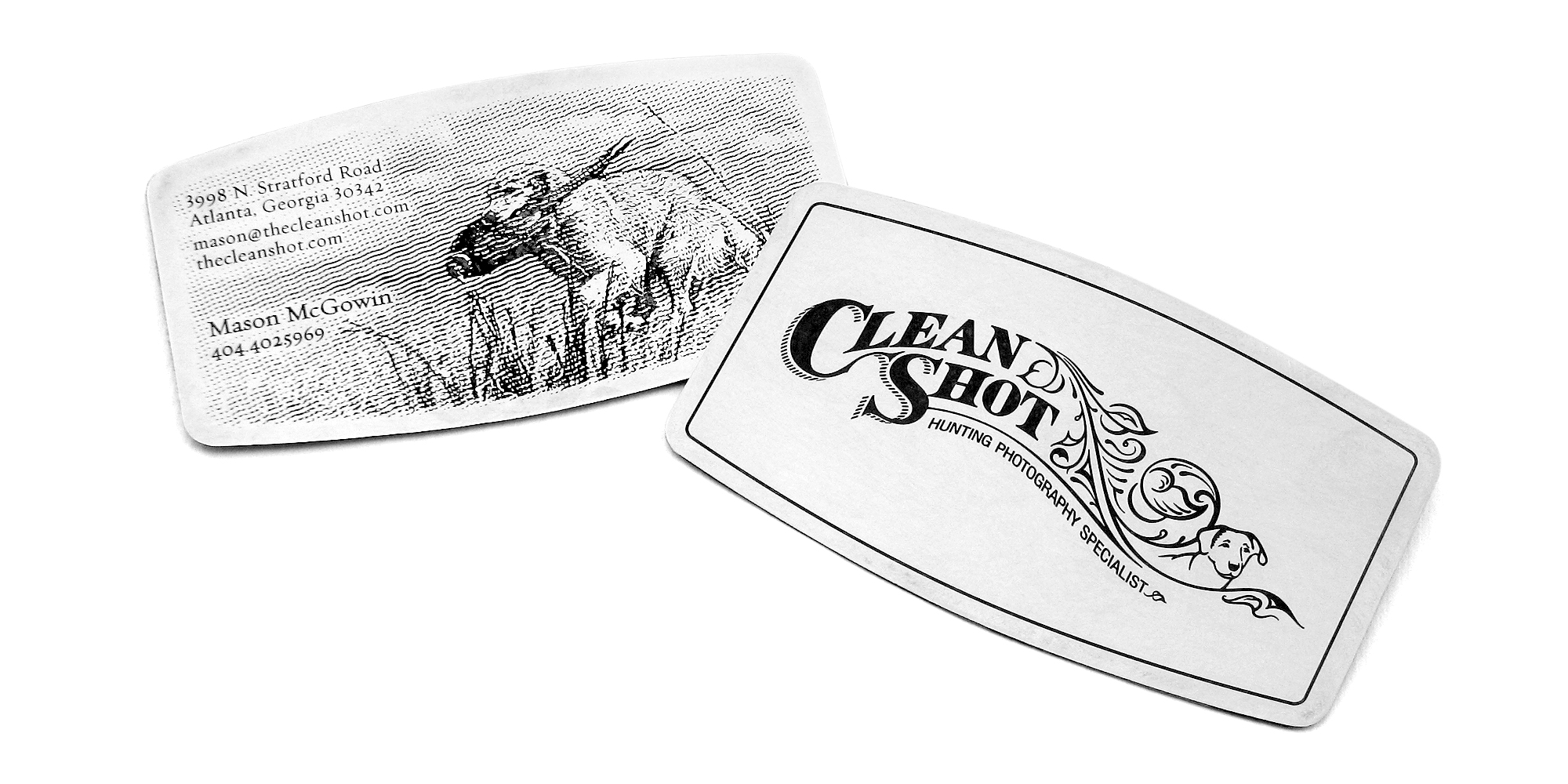 PRINT DESIGN - Clean Shot | business cards - ©UnParalleled, LLC dba UP-Ideas / Roger Sawhill / Mark Braught - Atlanta, Georgia | Lawrenceville, Georgia | Commerce, Georgia