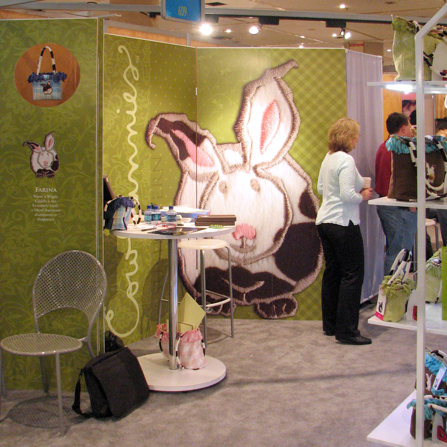EXHIBITION DESIGN/TRADE SHOW BOOTH - Cowbunnies - ©UnParalleled, LLC dba UP-Ideas / Roger Sawhill / Mark Braught - Atlanta, Georgia | Lawrenceville, Georgia | Commerce, Georgia