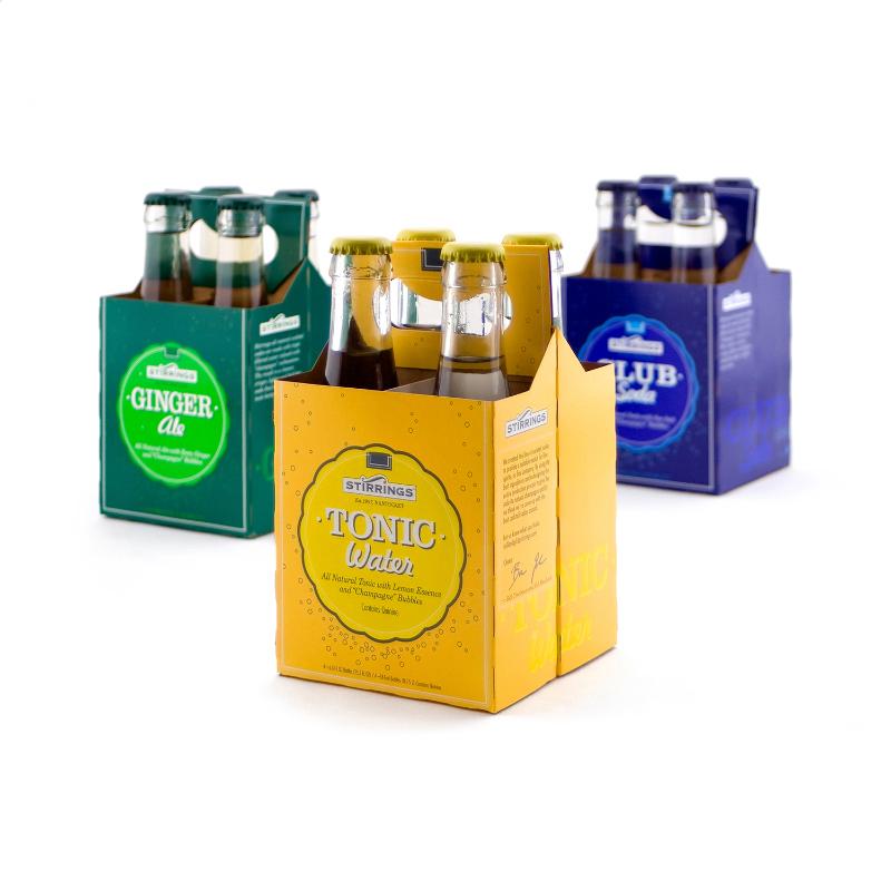 PACKAGE DESIGN - Stirrings | cocktail soda cartons - ©UnParalleled, LLC dba UP-Ideas / Roger Sawhill / Mark Braught - Atlanta, Georgia | Lawrenceville, Georgia | Commerce, Georgia