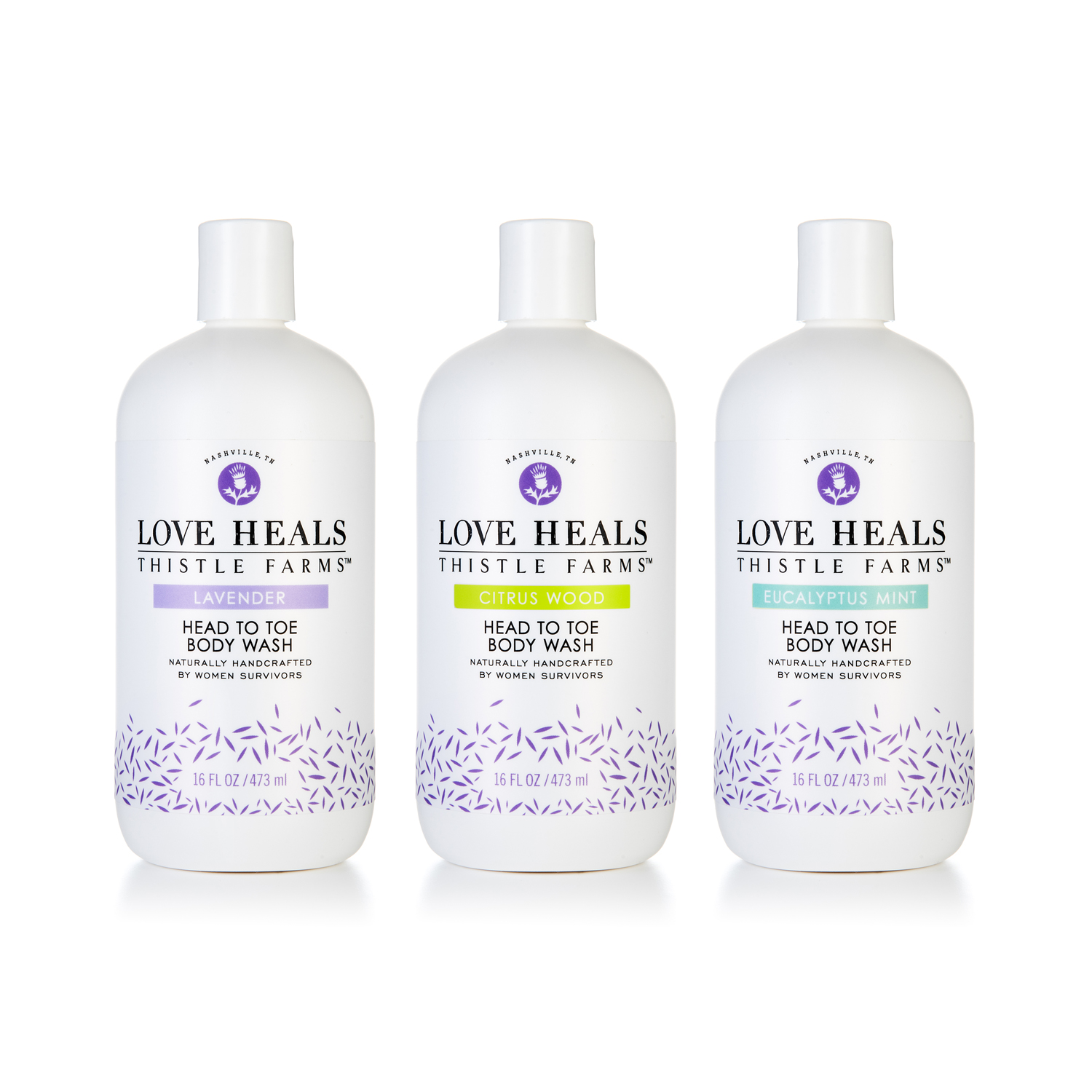 PACKAGE DESIGN - Thistle Farms | body wash bottles - ©UnParalleled, LLC dba UP-Ideas / Roger Sawhill / Mark Braught - Atlanta, Georgia | Lawrenceville, Georgia | Commerce, Georgia