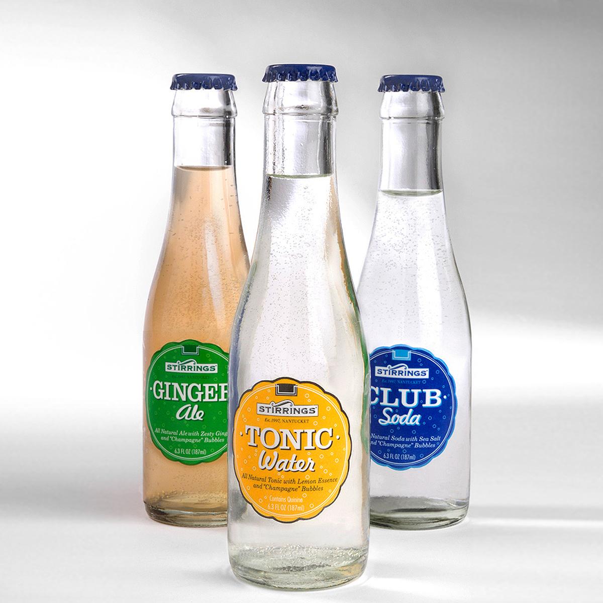 PACKAGE DESIGN - Stirrings | cocktail sodas bottles - ©UnParalleled, LLC dba UP-Ideas / Roger Sawhill / Mark Braught - Atlanta, Georgia | Lawrenceville, Georgia | Commerce, Georgia