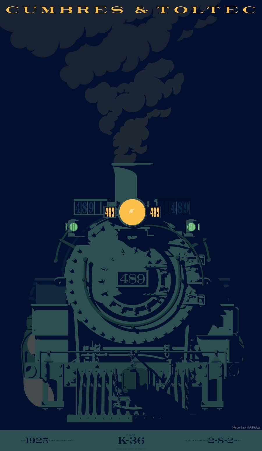 LOGO DESIGN/BRANDING - Train 489 - ©UnParalleled, LLC dba UP-Ideas / Roger Sawhill / Mark Braught - Atlanta, Georgia | Lawrenceville, Georgia | Commerce, Georgia